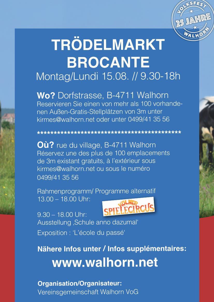 Trödelmarkt Kirmes Walhorn 2016
