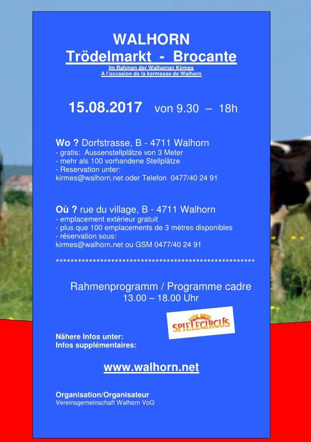 Trödelmarkt Kirmes Walhorn 2017